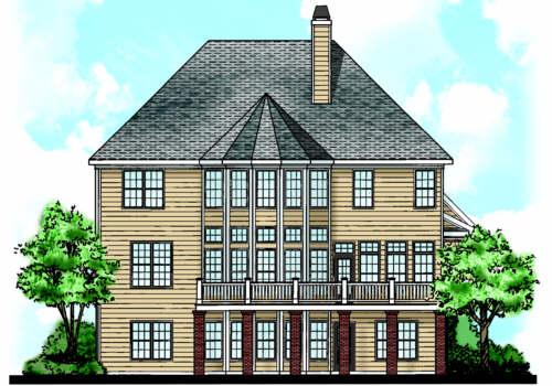 Summerlyn House Plan Rear Elevation