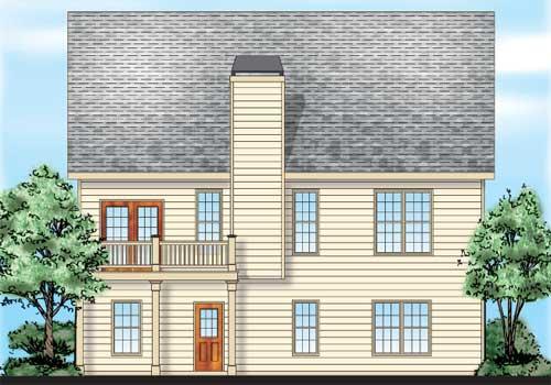 Berringer House Plan Rear Elevation