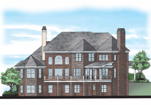 Clarendon House Plan Rear Elevation