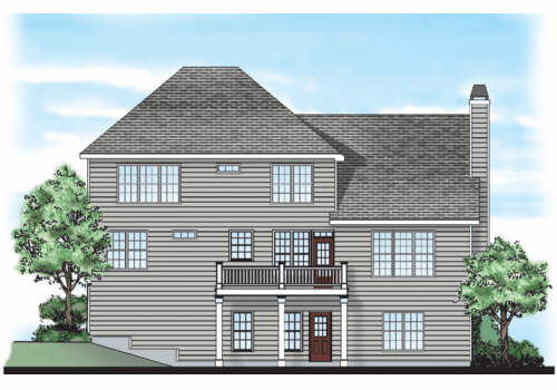 Sweetwater House Plan Rear Elevation