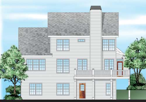 Willow Ridge House Plan Rear Elevation