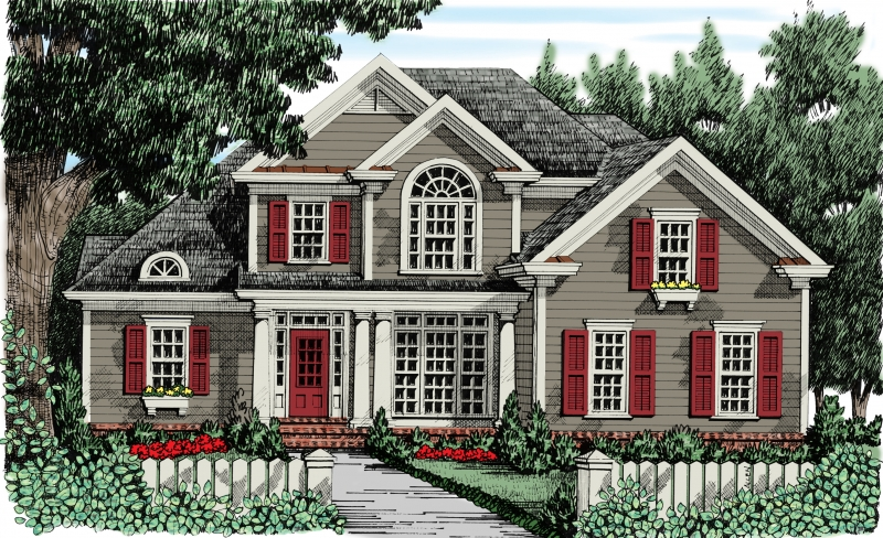 Colonnade House Plan Elevation