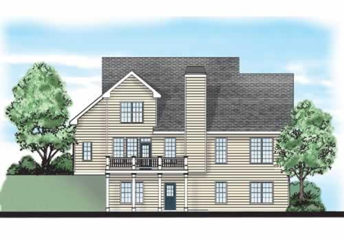 Lytham House Plan Rear Elevation