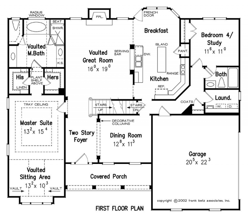 DEFOORS MILL House Floor Plan