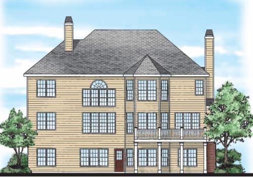 Port Royal House Plan Rear Elevation
