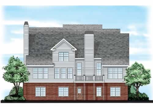 Germantown House Plan Rear Elevation