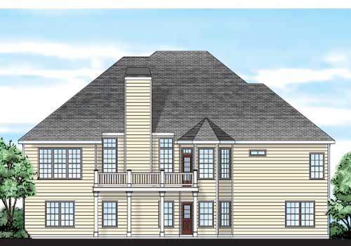 Ferdinand House Plan Rear Elevation