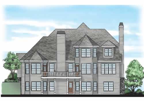 Montaigne House Plan Rear Elevation