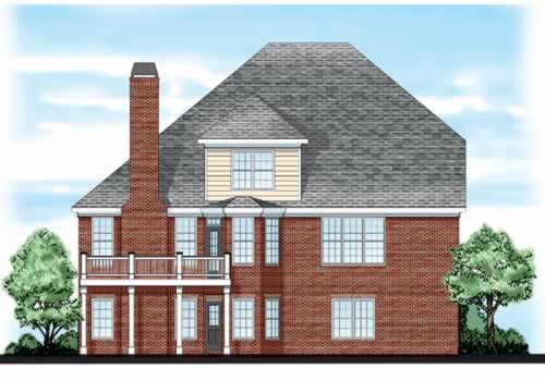 Sewell House Plan Rear Elevation