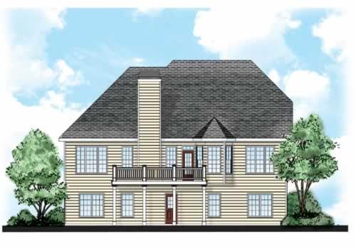 Glenallen House Plan Rear Elevation