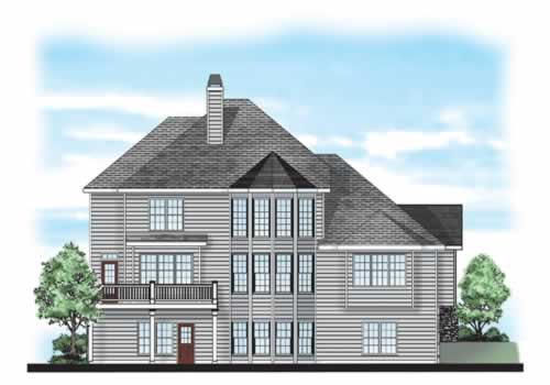 Prescott Ridge House Plan Rear Elevation