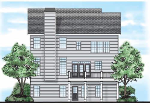 Chesney House Plan Rear Elevation