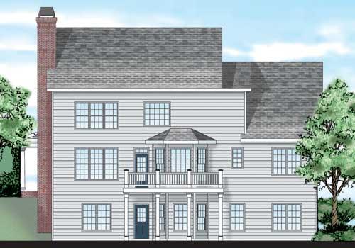 Clarkston House Plan Rear Elevation