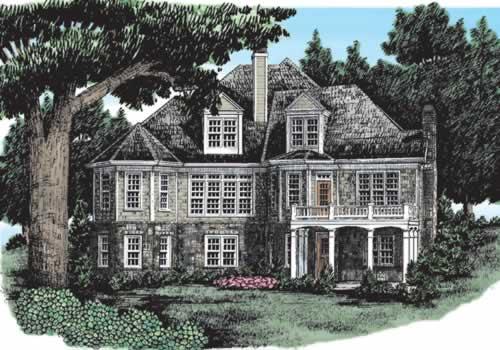 Westhampton House Plan Rear Elevation