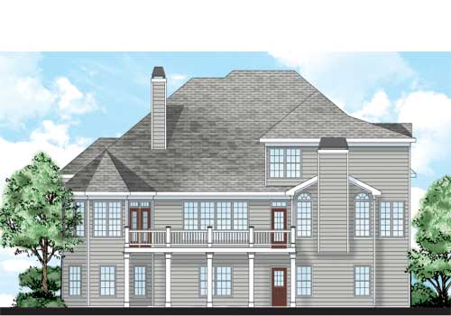 Benedict House Plan Rear Elevation