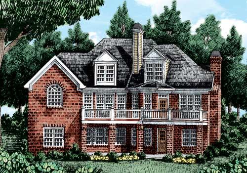 Muirfield House Plan Rear Elevation