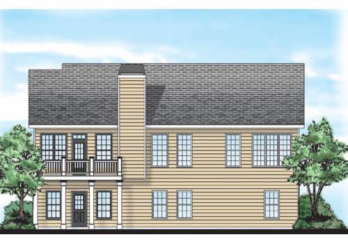 Falls Grove House Plan Rear Elevation