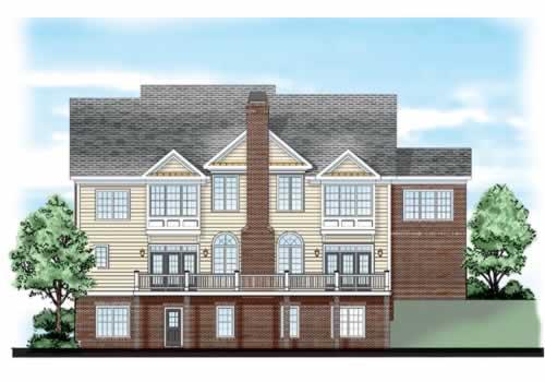 Longleaf House Plan Rear Elevation