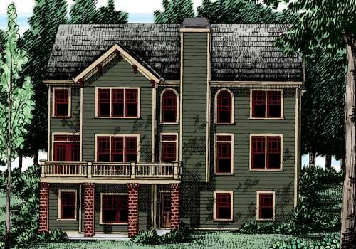 Bakersfield House Plan Rear Elevation