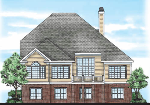 Inman Park House Plan Rear Elevation