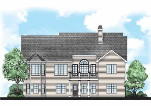 Lincoln Park House Plan Rear Elevation