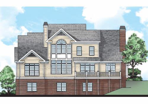 Forrest Hills House Plan Rear Elevation