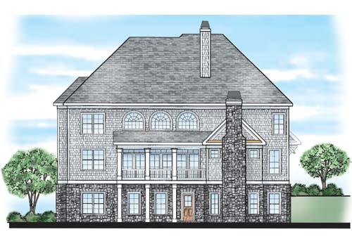 Copper Ridge House Plan Rear Elevation