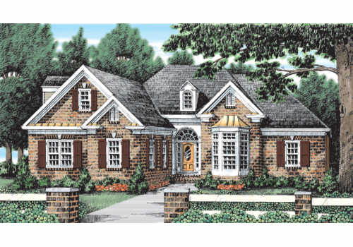 Lake Forest House Plan Elevation