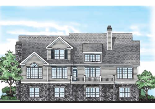 Devonhurst House Plan Rear Elevation