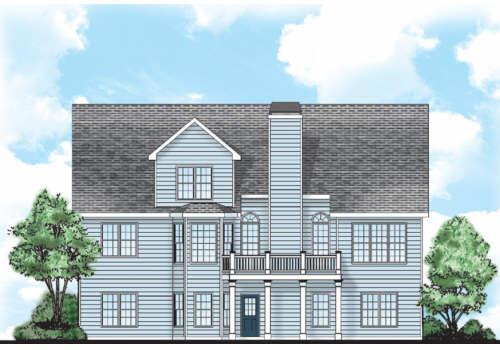 Amelia House Plan Rear Elevation