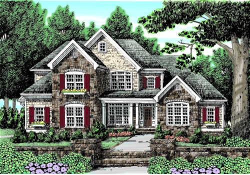 Mcfarlin Park House Plan Elevation