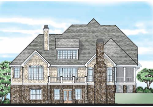 Mcfarlin Park House Plan Rear Elevation