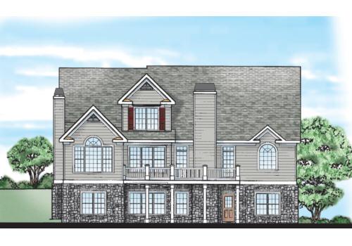 Stewarts Landing House Plan Rear Elevation