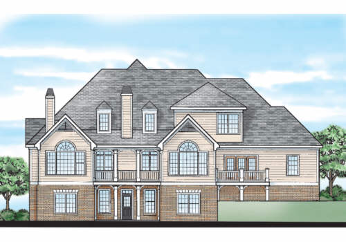 Hazelwood Ridge House Plan Rear Elevation