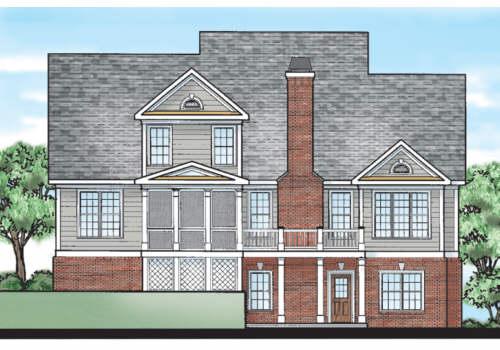 Bainbridge Court House Plan Rear Elevation