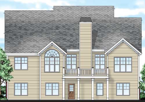 Holly Springs House Plan Rear Elevation