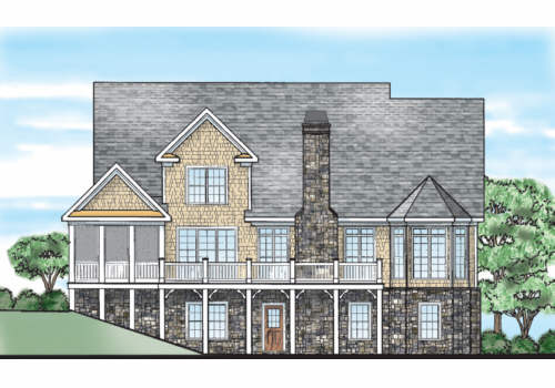 Catawba Ridge House Plan Rear Elevation