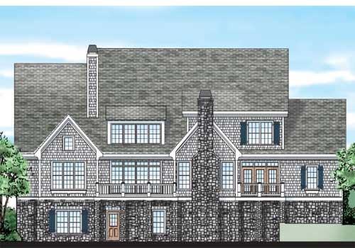 Hartford Springs House Plan Rear Elevation