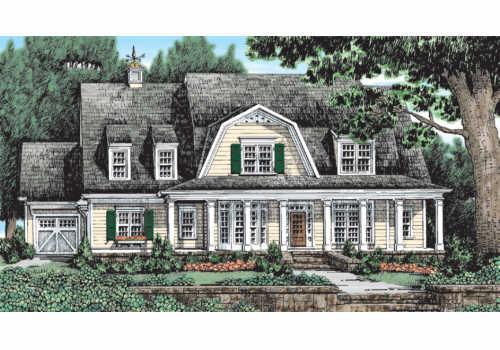Latimer Farm House Plan Elevation