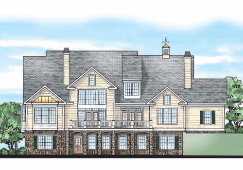 Latimer Farm House Plan Rear Elevation