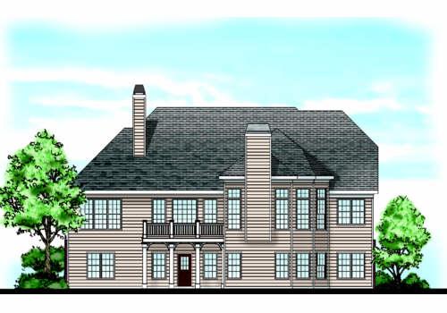 Camden Lake House Plan Rear Elevation