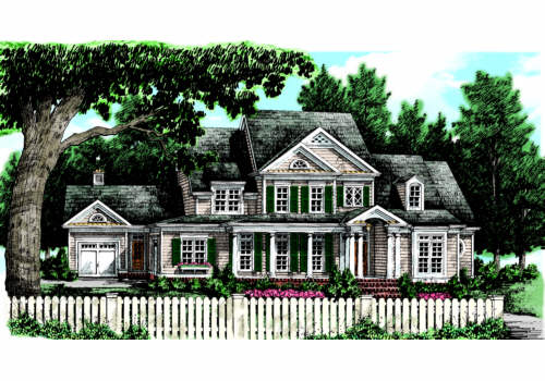 Baldwin Farm House Plan Elevation