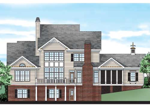 Baldwin Farm House Plan Rear Elevation