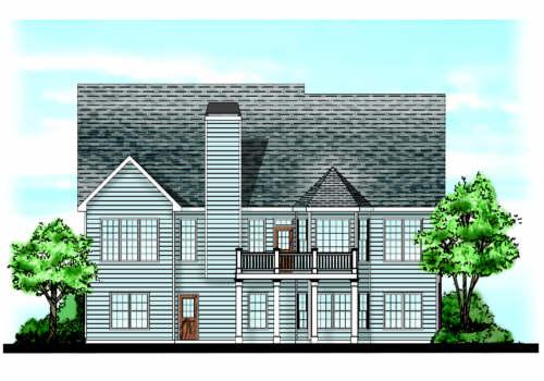 Mcarthur Park House Plan Rear Elevation