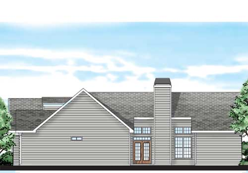 Nickerson House Plan Rear Elevation