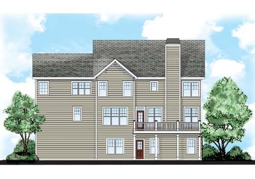 Santa Clara House Plan Rear Elevation