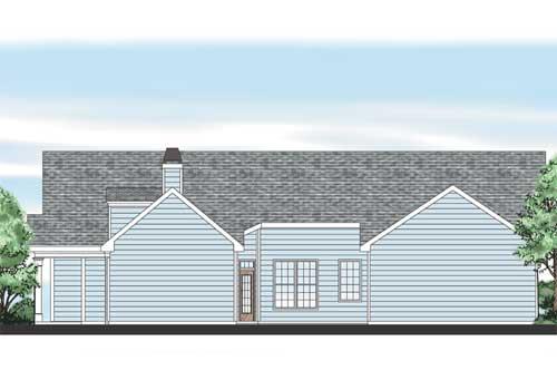 Stephenson House Plan Rear Elevation