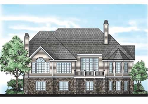 Wilson Bridge House Plan Rear Elevation
