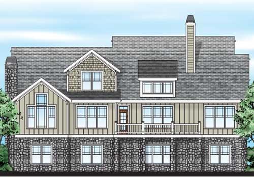 Braxtons Creek House Plan Rear Elevation