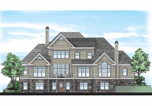 Keheley Ridge House Plan Rear Elevation